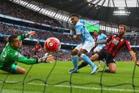Classic match: Sterling sees off Cherries with treble