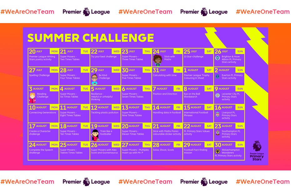 Summer Planner, Friday Family Challenge