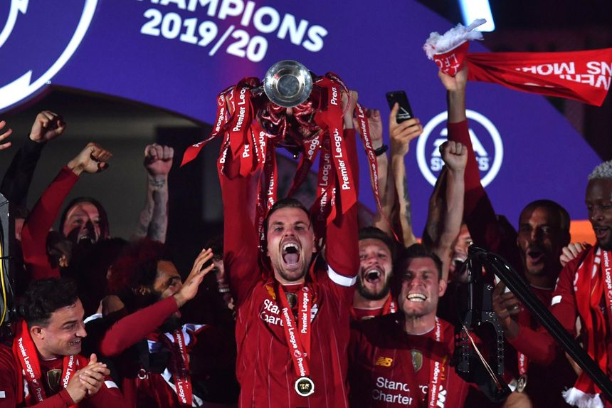 Liverpool lift Premier League Trophy