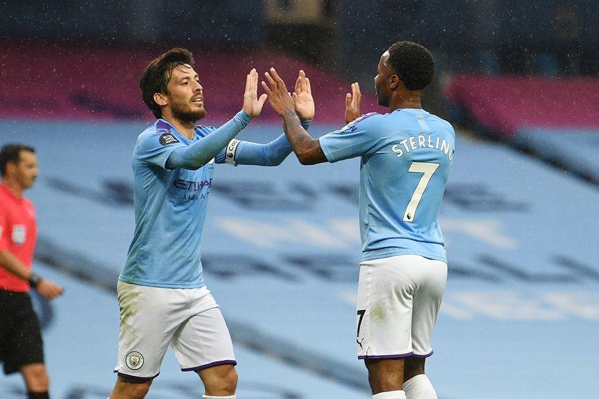 David Silva and Raheem Sterling, Man City