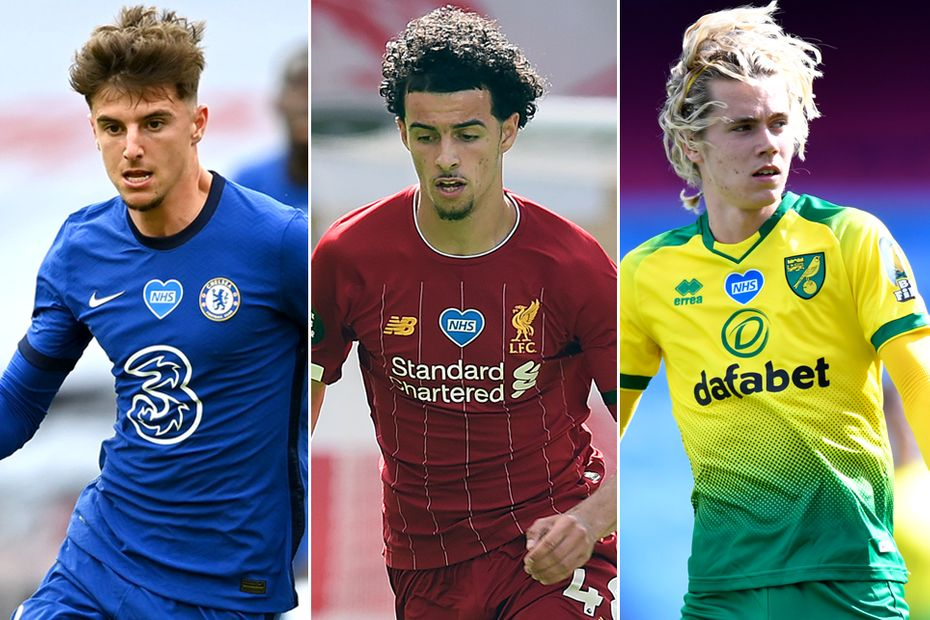 Mason Mount, Chelsea; Curtis Jones, Liverpool; Todd Cantwell, Norwich