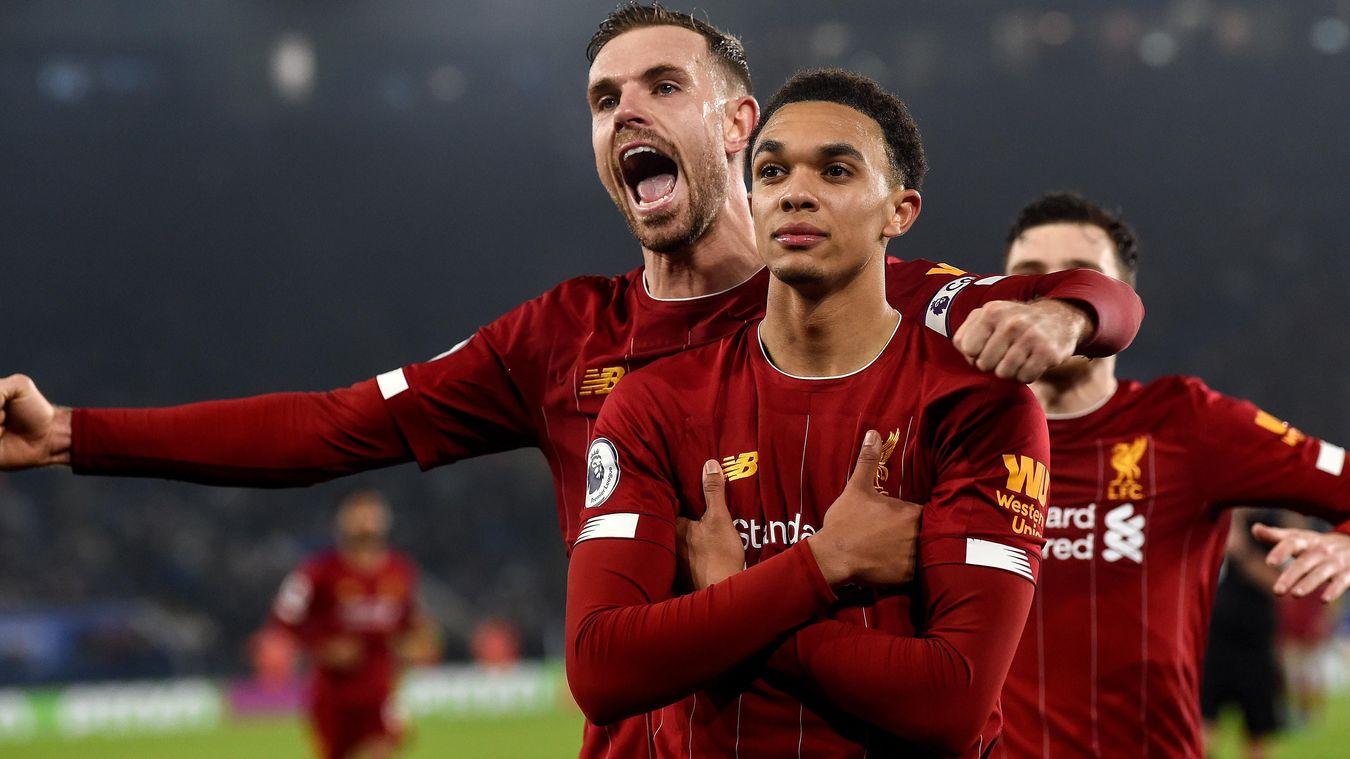 Trent Alexander-Arnold, Liverpool celebration in 2019/20