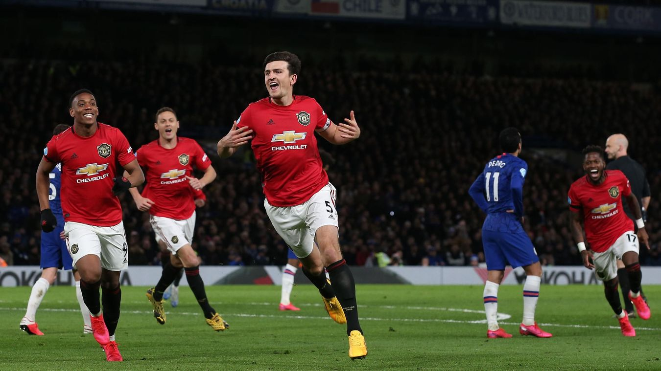 Harry Maguire, Manchester United celebration in 2019/20