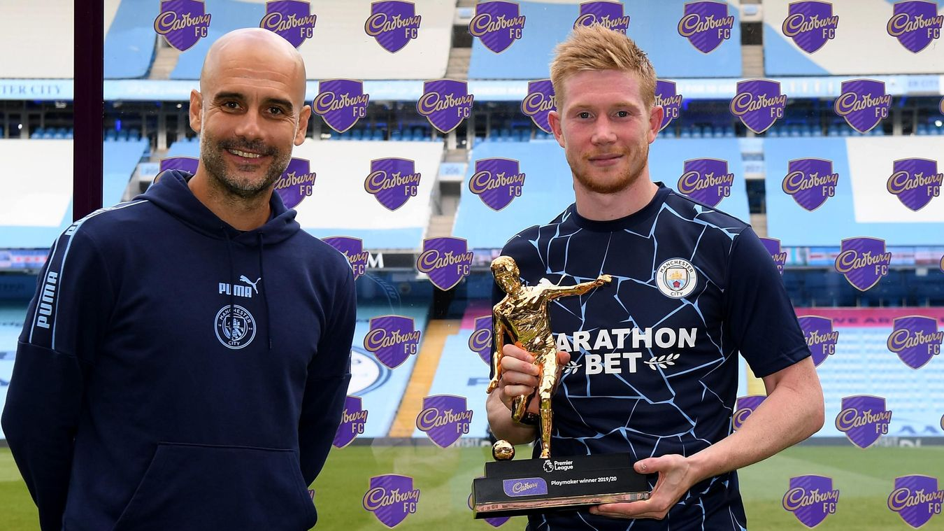 Kevin De Bruyne won the Playmaker Award after equalling Thierry Henry's record of 20 assists in a single Premier League season, set in 2002/03