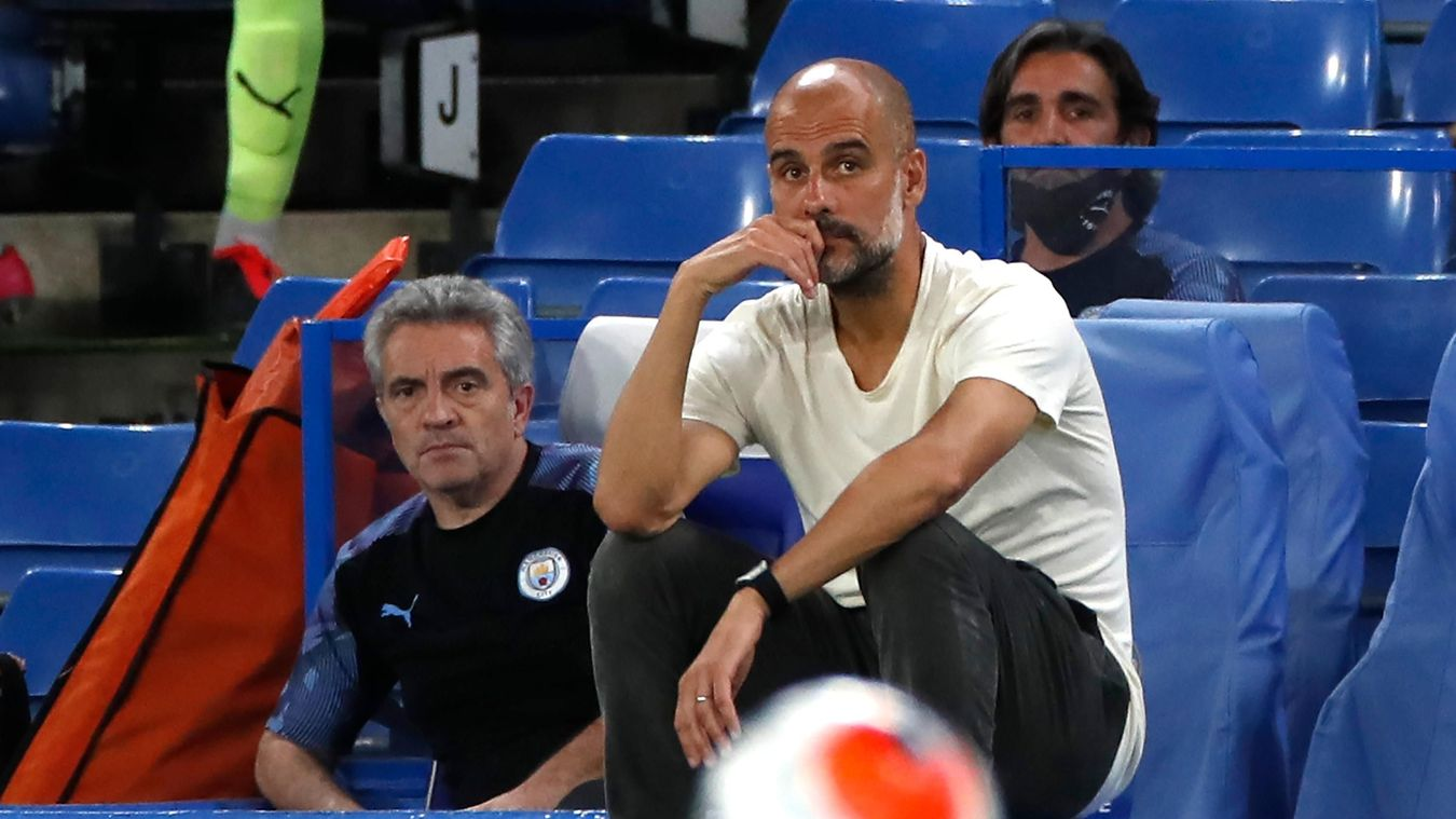 Pep Guardiola watches on as his side are defeated for an eighth time in 2019/20