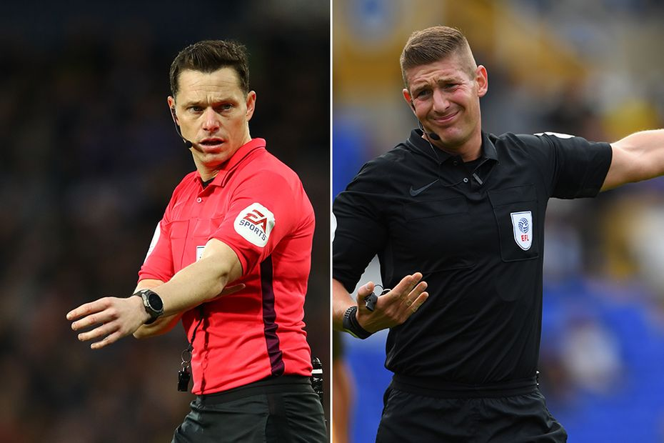 Darren England and Rob Jones, Premier League referees