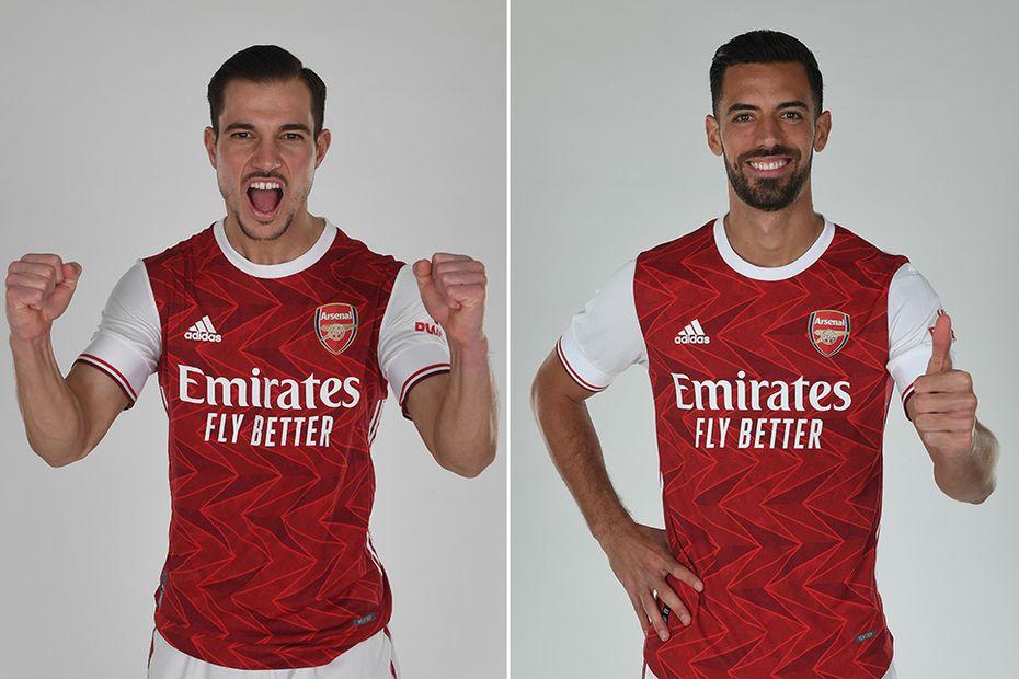 Cedric Soares and Pablo Mari, Arsenal