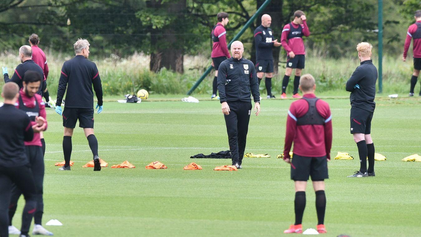 Burnley training