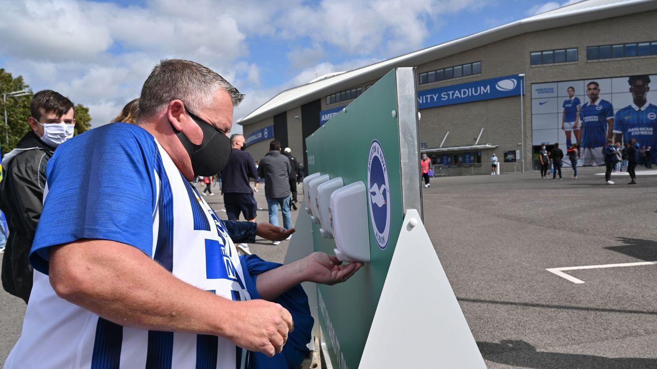 Fans return to the Amex Stadium