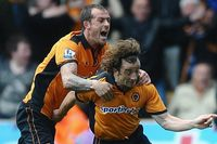 Goal of the day: Hunt curls in magnificently for Wolves
