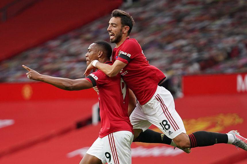 Anthony Martial and Bruno Fernandes