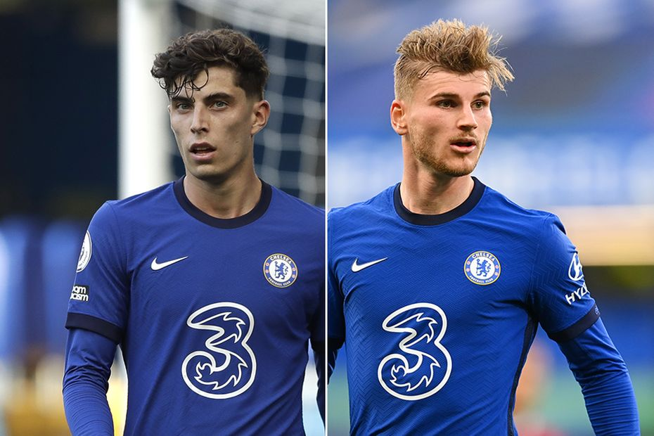 Kai Havertz and Timo Werner, Chelsea