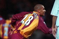 Goal of the day: Collymore's overhead kick for Bradford