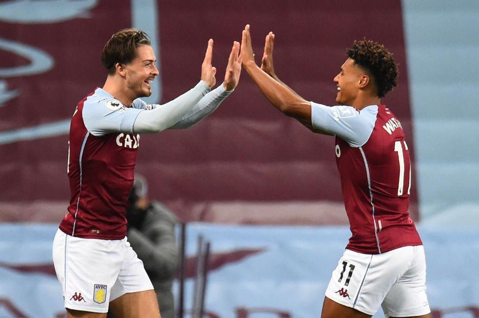 Grealish and Watkins, Aston Villa