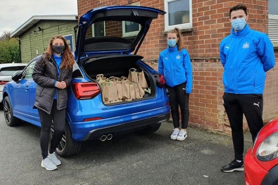NUFC Foundation Fawdon school food delivery
