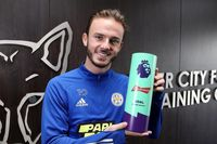 Watch Maddison's Budweiser Goal of the Month v Man City