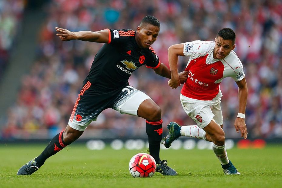 Antonio Valencia, Man Utd, and Alexis Sanchez, Arsenal