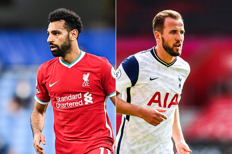 Mohamed Salah, Liverpool, and Harry Kane, Spurs