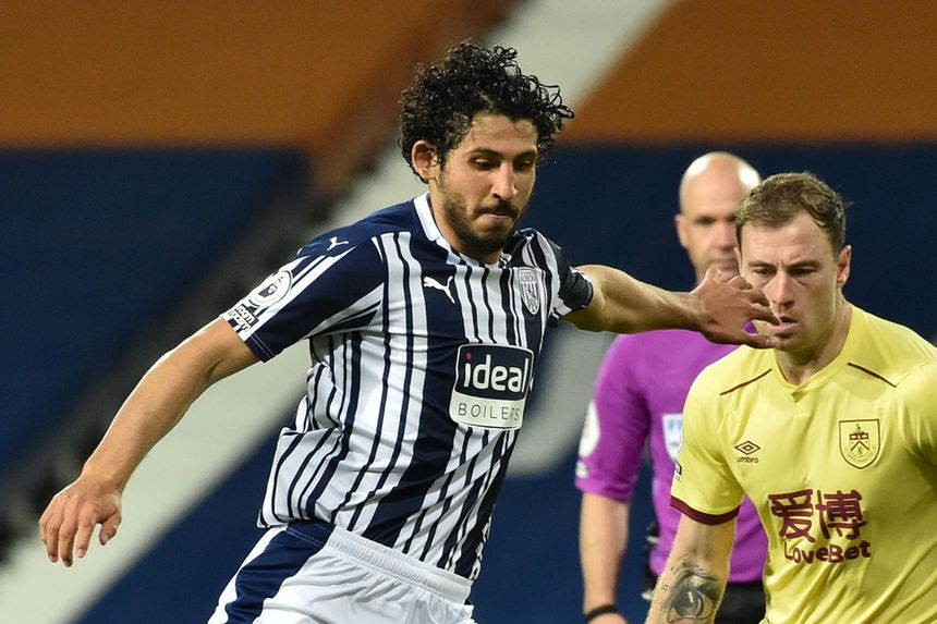 Ahmed Hegazi in action for West Brom