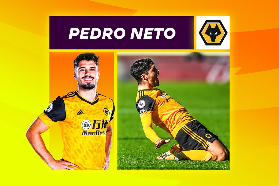 A graphic showing Wolves winger Pedro Neto