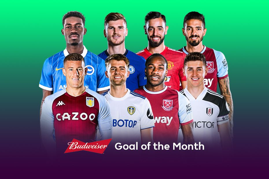 Budweiser Goal of the Month contenders for October 2020