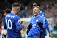 Classic match: Vardy helps Rodgers to first Leicester win