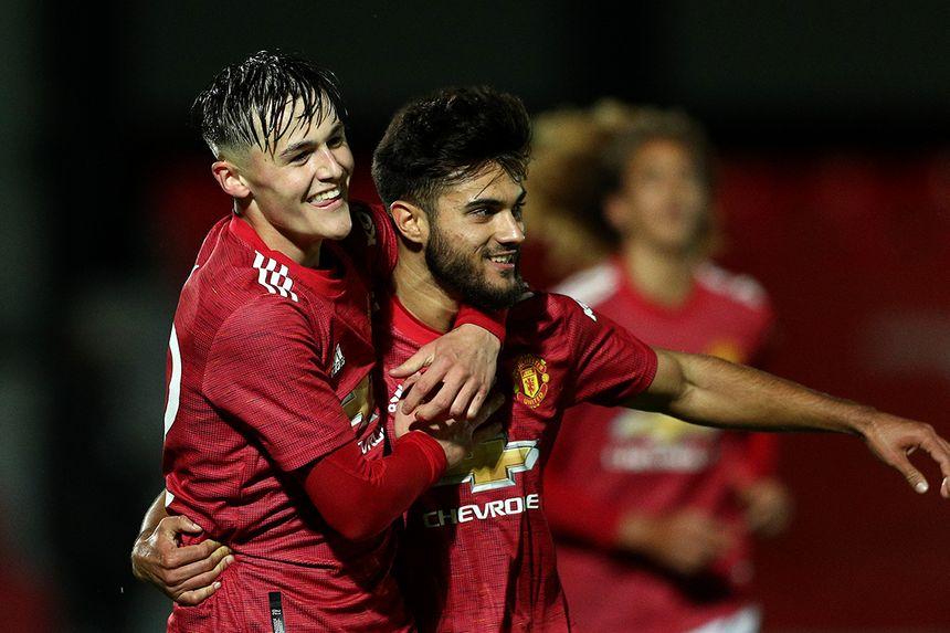 Arnau Puigmal celebrates scoring in PL2