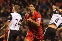 Liverpool's Suarez hits four past Norwich