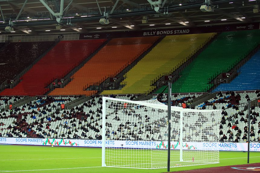West Ham's banner for the Rainbow Laces campaign