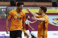 Watch Jimenez's outstanding volley at Burnley