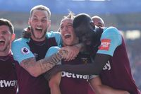 Watch Noble's first-time volley against Leicester