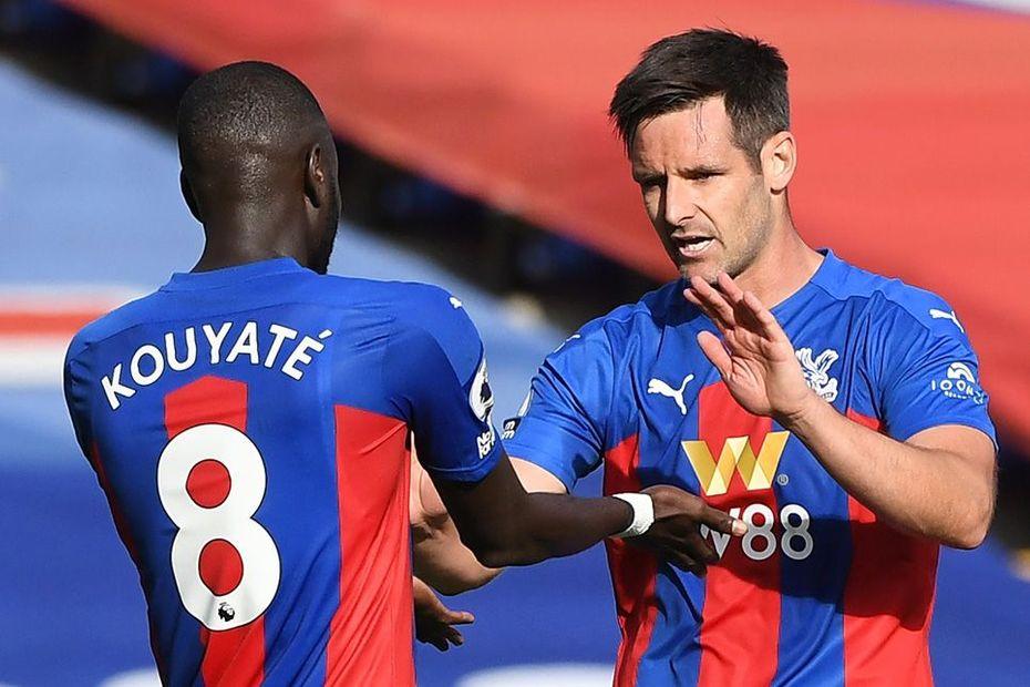 Cheikhou Kouyate and Scott Dann, Crystal Palace