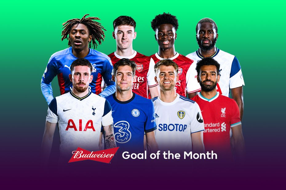 January Budweiser Goal of the Month nominees
