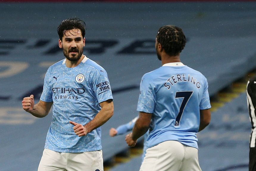 Ilkay Gundogan and Raheem Sterling, Man City
