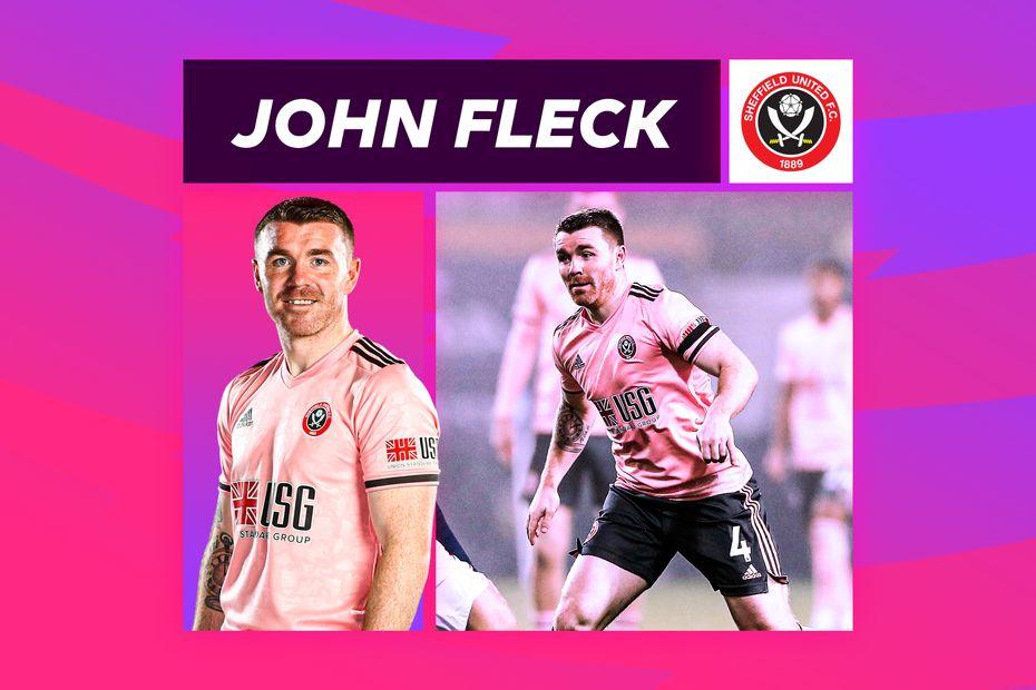 A graphic showing Sheffield United midfielder John Fleck