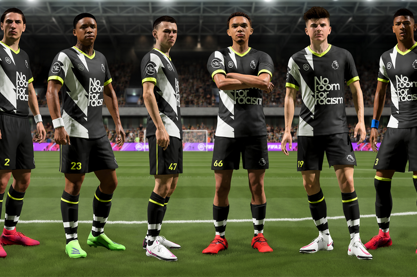 EA SPORTS FIFA 21's No Room For Racism branding