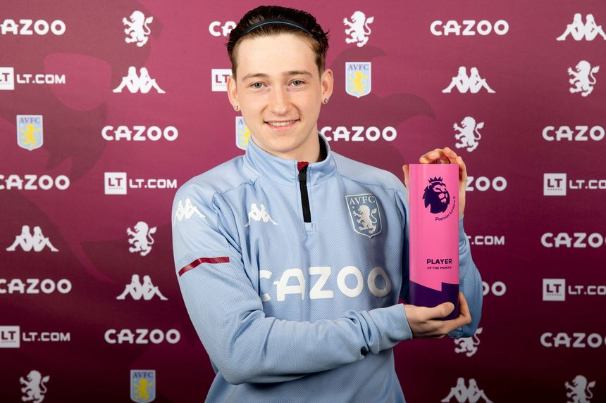 Louie Barry with his PL2 Player of the Month award