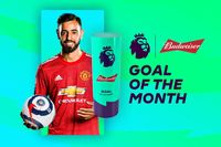 Watch Fernandes's February Budweiser Goal of the Month