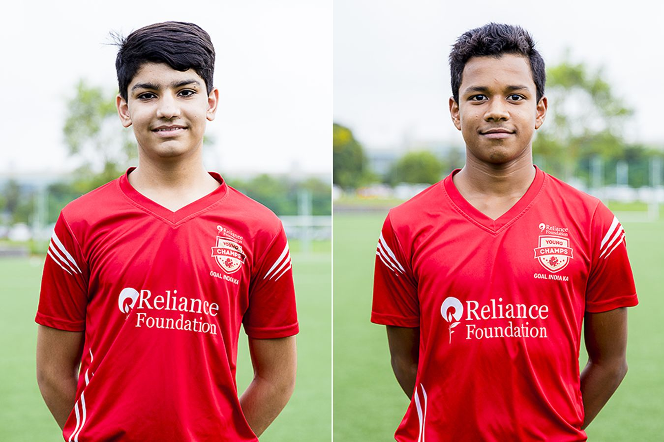 Reliance Foundation Young Champs players Ayush and Koustav