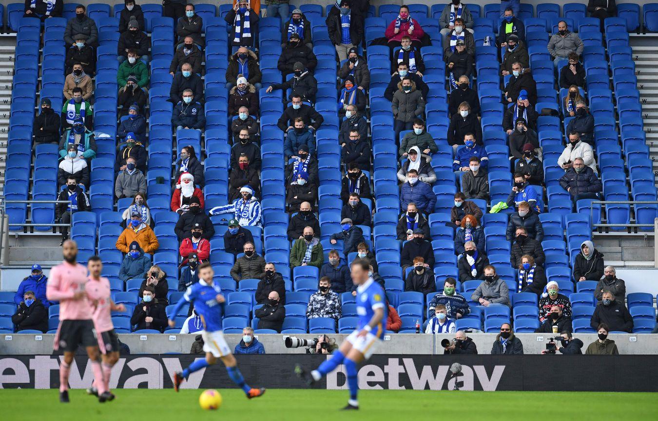 Brighton v Sheff Utd fans