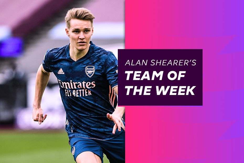Martin Odegaard, Shearer's Team of the Week, MW30