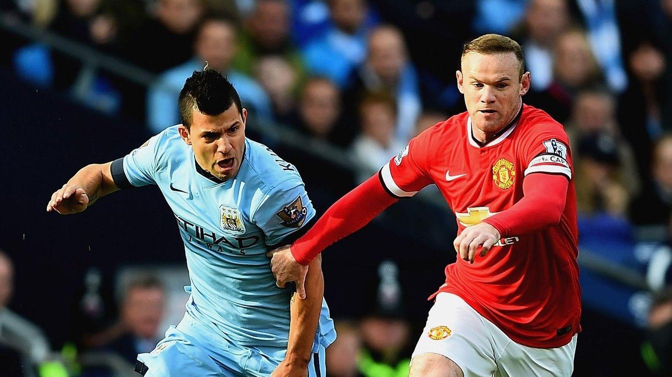 Sergio Aguero and Wayne Rooney