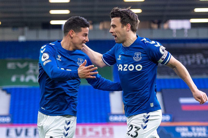 James Rodriguez and Seamus Coleman, Everton