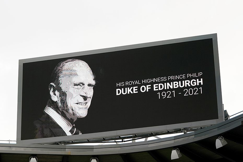 On-screen tribute to His Royal Highness The Prince Philip, Duke of Edinburgh