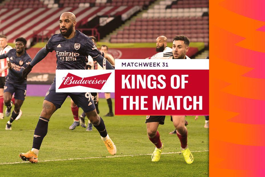 Alexandre Lacazette, Budweiser King of the Match for Matchweek 31