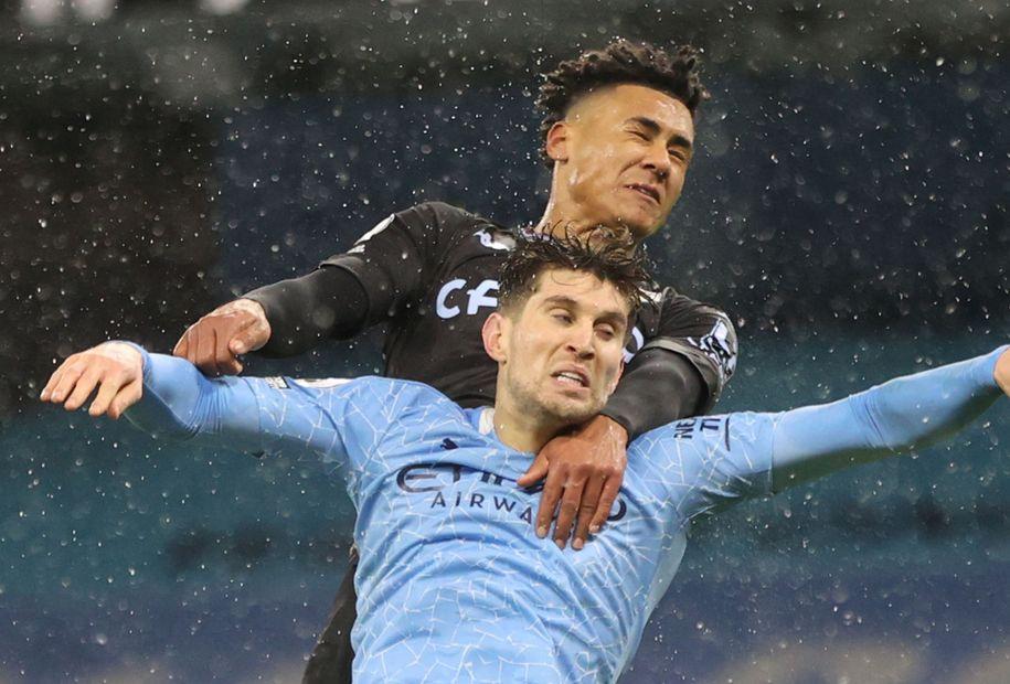 Watkins, Stones Man City v Aston Villa