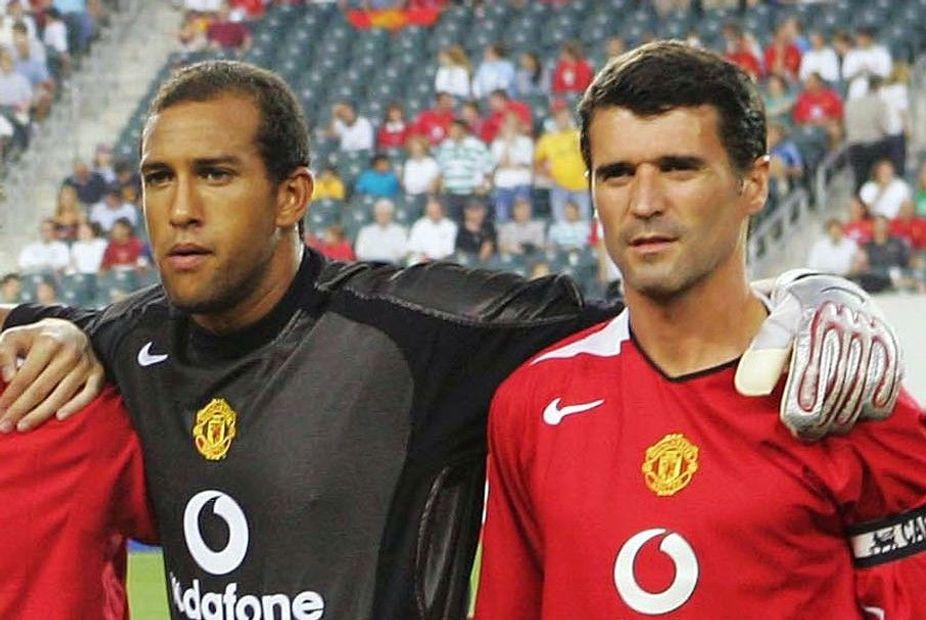 Tim Howard and Roy Keane