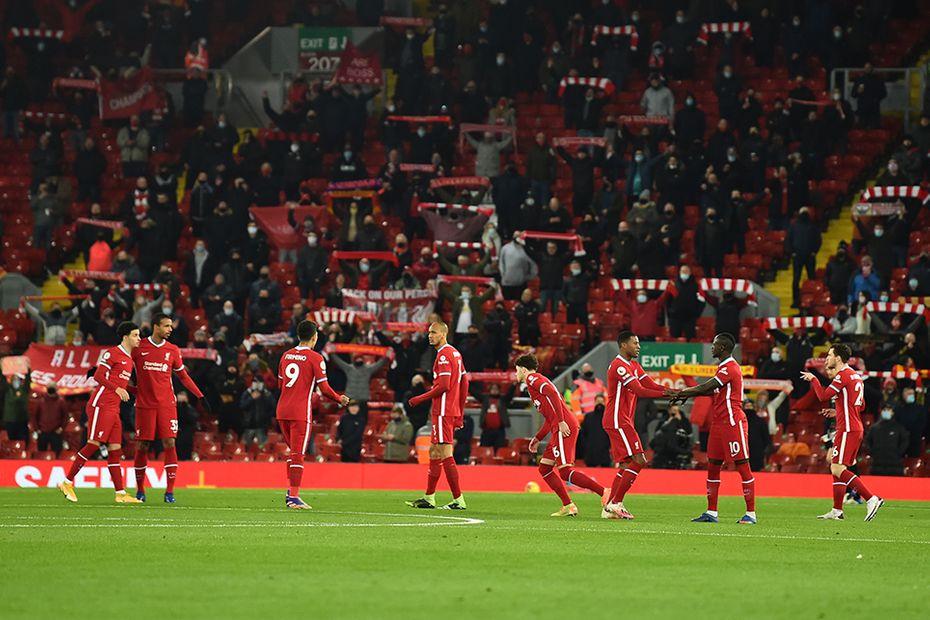 Fans at a Premier League match