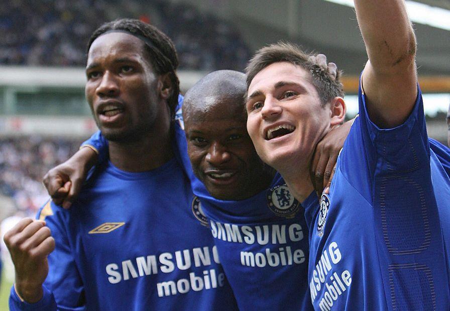 Drogba, Gallas, Lampard, Chelsea