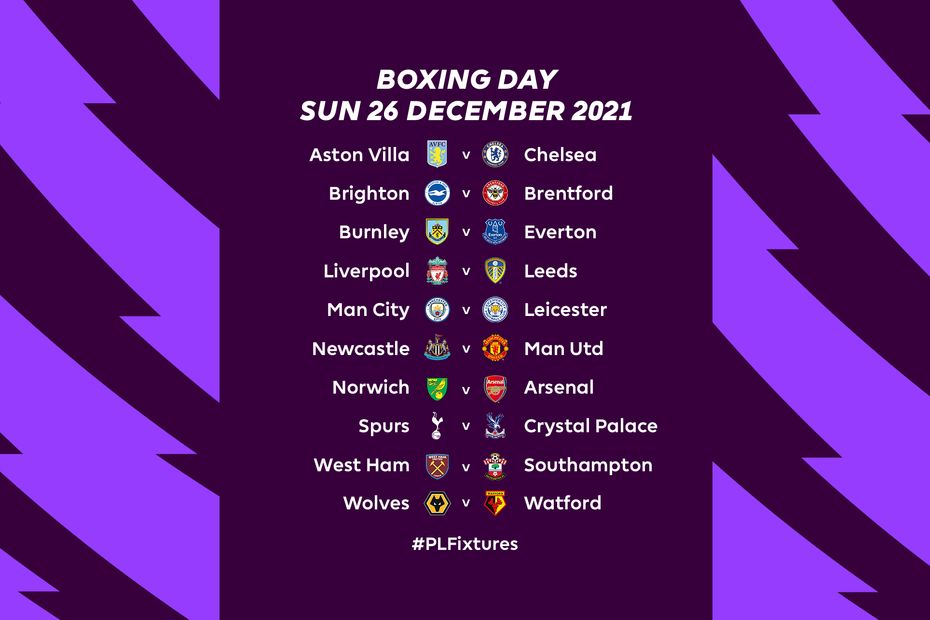 Boxing Day Fixtures